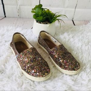 Toms Youth glitter shoes